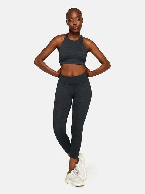 A model rocking the techsweat crop legging from Outdoor Voices