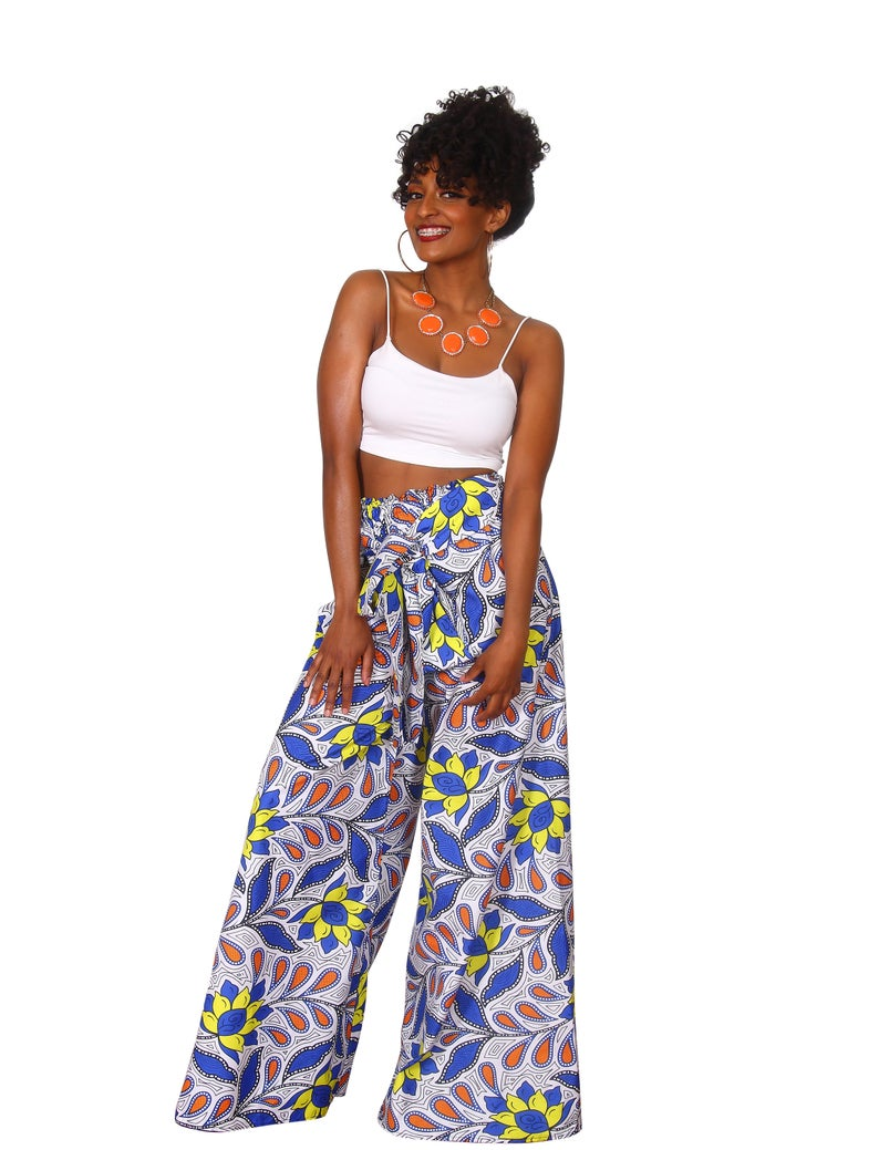 Floral African Palazzo pants to explore