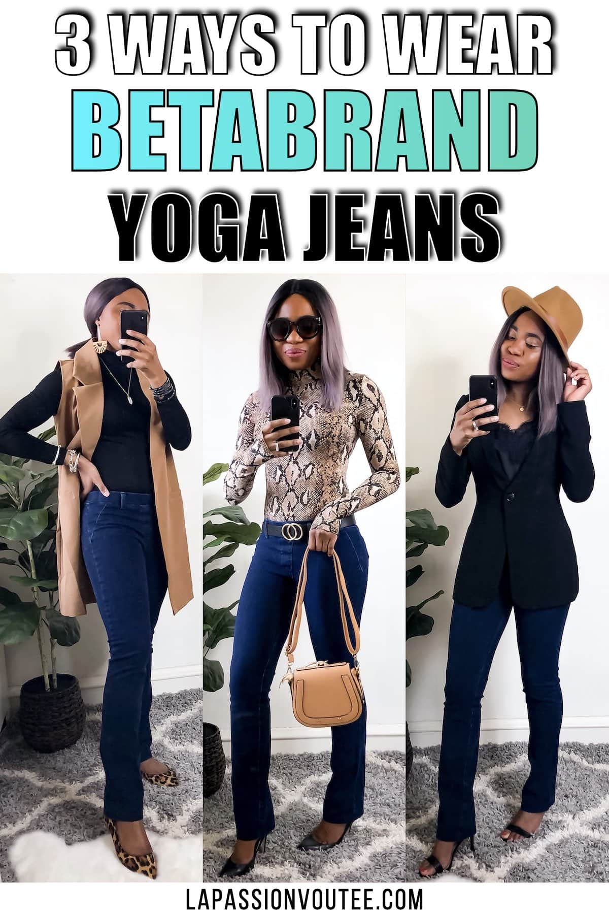 3 Ways to Wear Betabrand Yoga Jeans