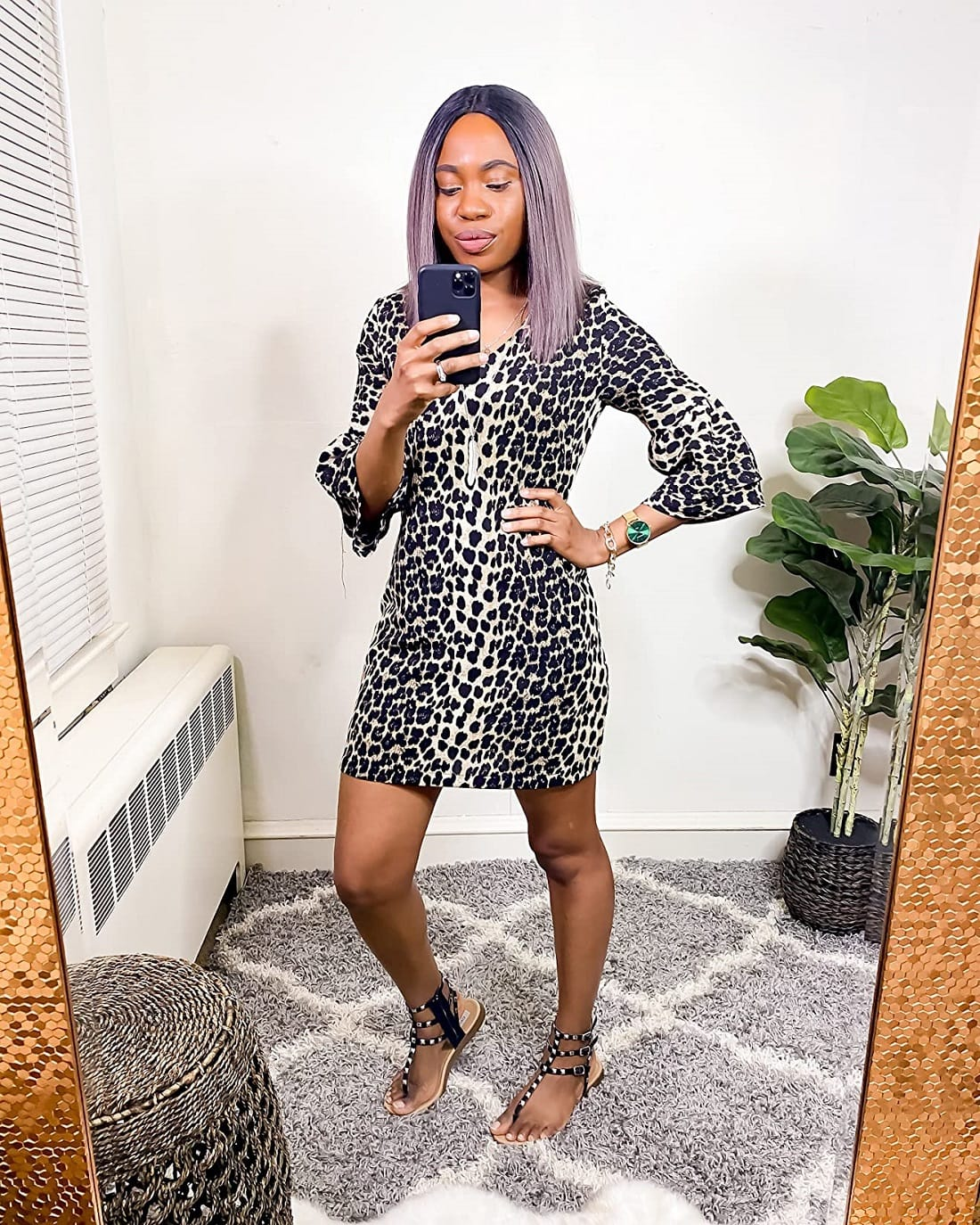 A bestseller leopard print short dress from Amazon dress haul collection