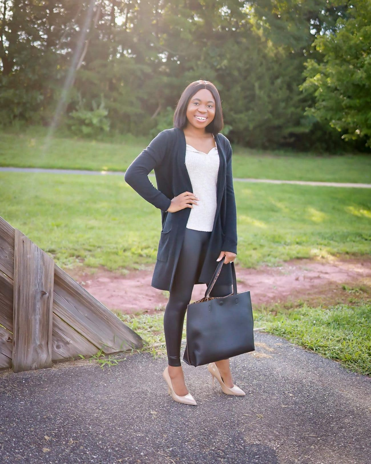 2020 Nordstrom Anniversary Sale blogger picks including the super hyped Spanx faux leather leggings and Barefoot Dreams CozyChic cardigan.