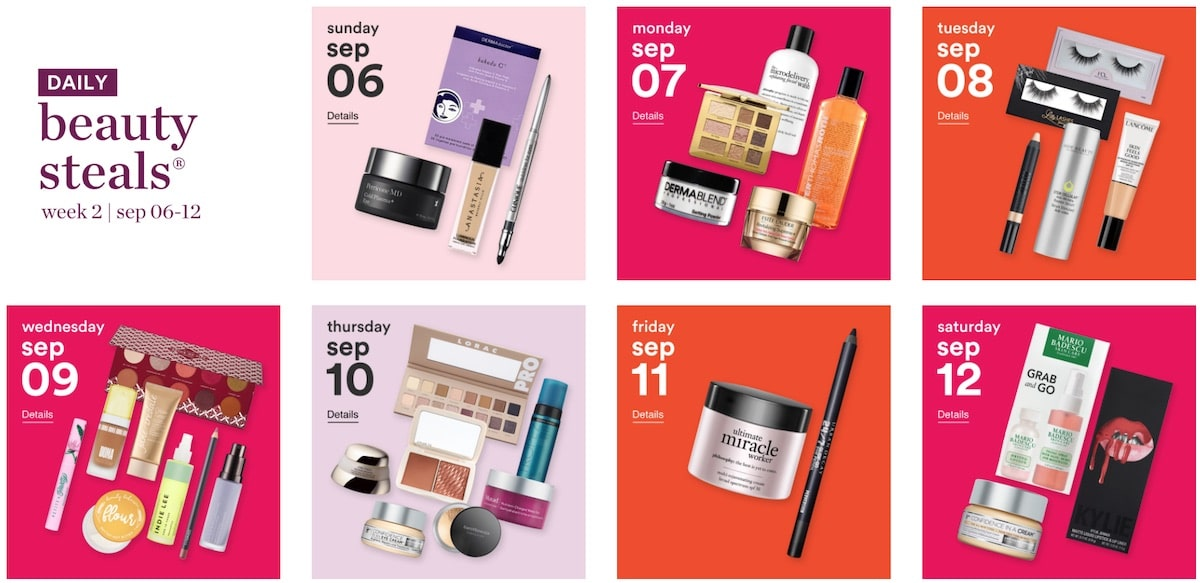 This year's Ulta 21 Days of Beauty sale runs August 30th - September 19th, 2020. You can save up to 50 percent on beauty essentials and products that rarely ever go on sale. Discount include beauty brands like Dermalogica, Exuviance, Tula, Elemis, Juice Beauty and more.