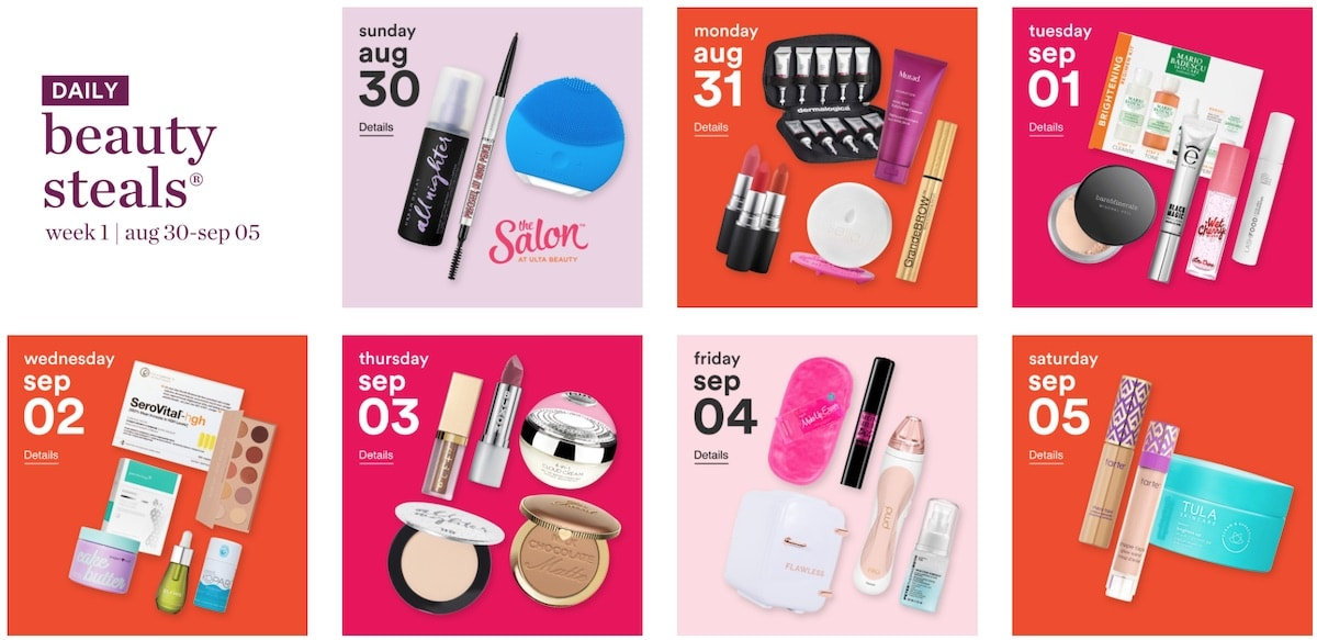 Ulta' 21-day beauty sale starts now featuring massive discount on select brands up to 50% off for one day only. This twice a year sale is everything you need to stuck up on beauty steals and hot buys. Here are our top recommendations.
