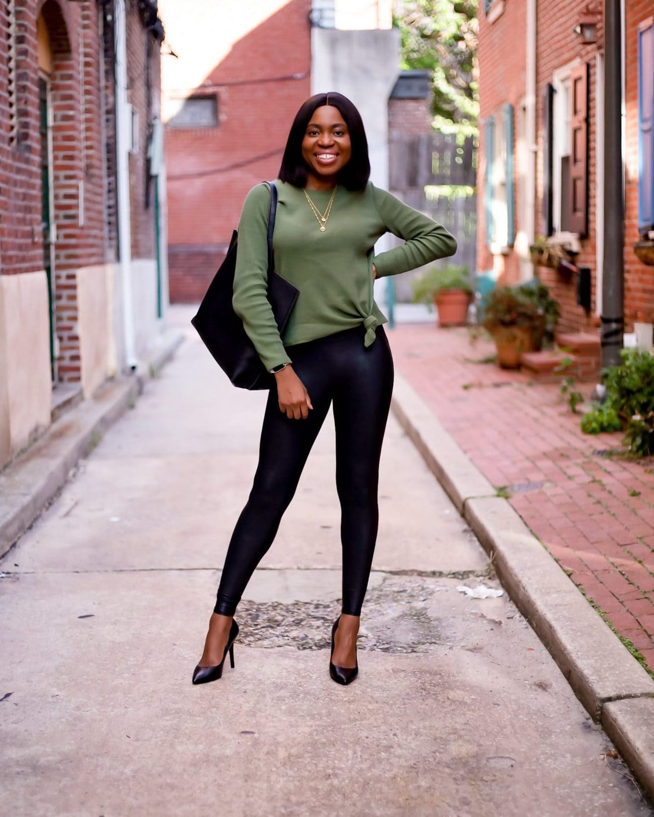 how to style spanx leather leggings