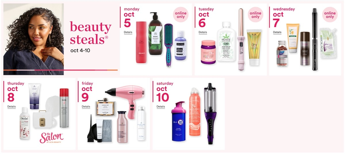 The 2020 Ulta Beauty's Fall Gorgeous Hair Event is a great opportunity to save 50% off professional haircare products from shampoos and conditioners to hot air tools.