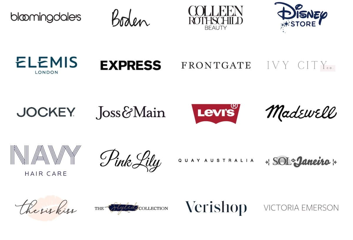 Brands participating in the 2020 Ready, Set, Gift LTK Sale event