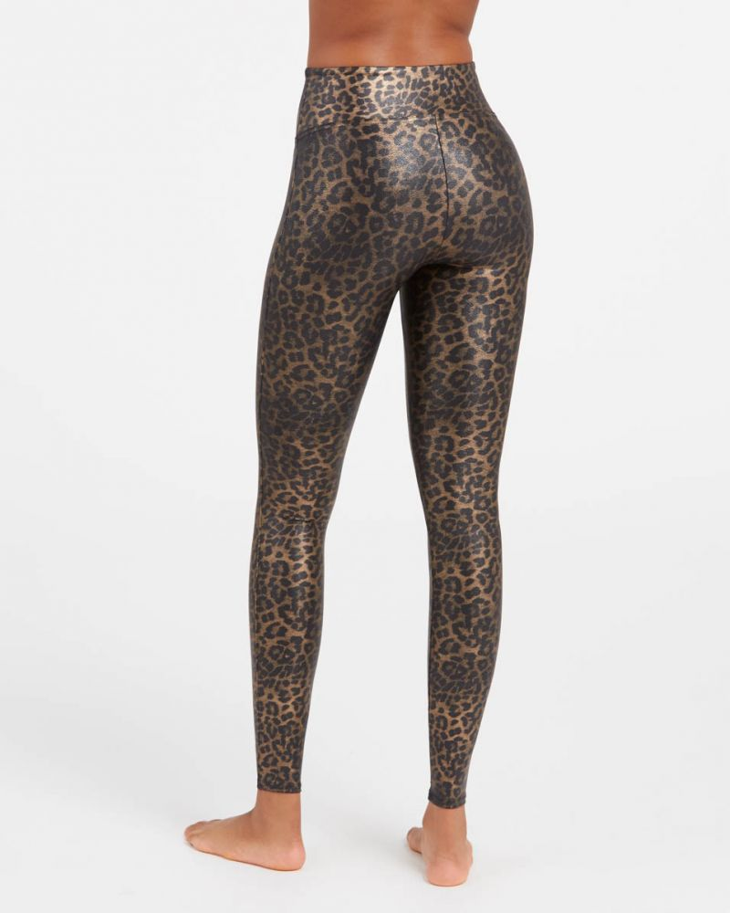 """Spanx Faux Leather Leopard Leggings - You've heard raving reviews and seen """"these"""" Spanx leggings on everyone but are they worth it? Here's what you should know about these expensive Spanx leggings."""