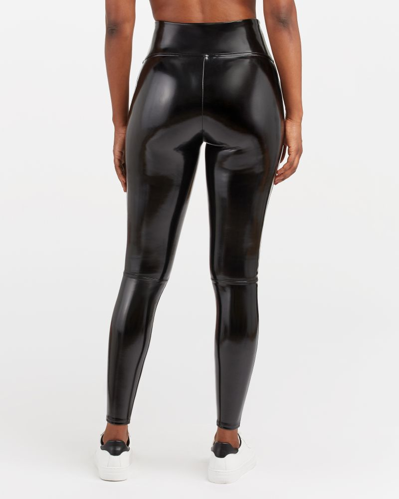"""Spanx Faux Patent Leather Leggings - You've heard raving reviews and seen """"these"""" Spanx leggings on everyone but are they worth it? Here's what you should know about these expensive Spanx leggings."""