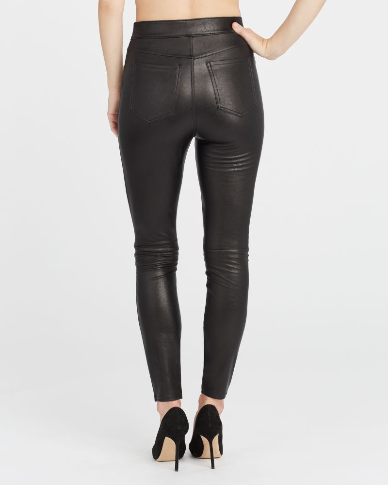 Spanx Leather-Like Ankle Skinny Pant - Are Spanx leggings see through? My honest review on Spanx leggings and pants and the Spanx leggings for your needs.