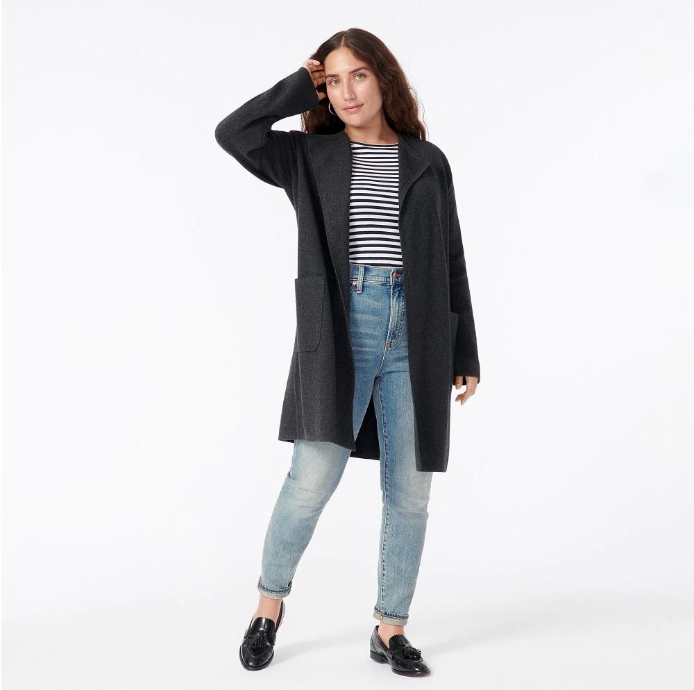 J.Crew Juliette collarless sweater-blazer - blogger gift guide