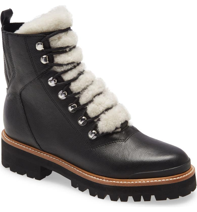 Marc Fisher Izzie Genuine Shearling Lace Up Boot Best Gifts for Fashion Bloggers