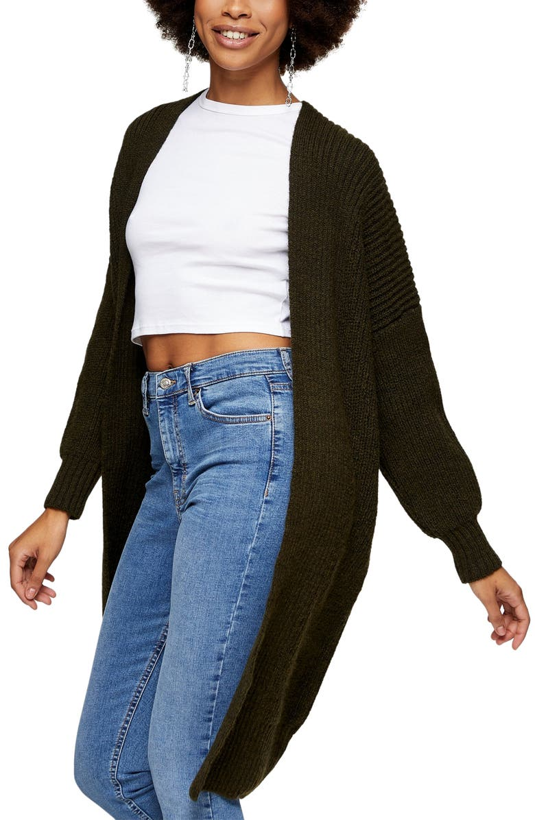Topshop Ribbed Open Front Cardigan - best gifts for fashion bloggers