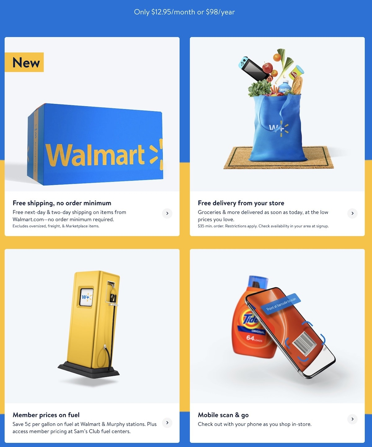 What are the benefits of Walmart+ Subscription?